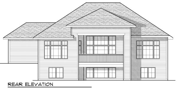 House Plan 73435 | Craftsman Traditional Style Plan with 3140 Sq Ft, 3 Bedrooms, 4 Bathrooms, 3 Car Garage Rear Elevation
