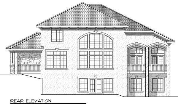 Mediterranean House Plan 73436 Rear Elevation