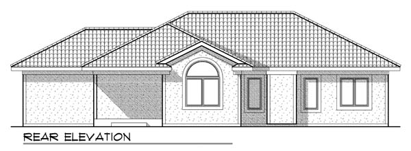 Contemporary Mediterranean House Plan 73439 Rear Elevation