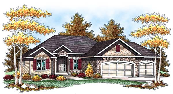 European Traditional House Plan 73441 Elevation