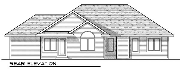 European Traditional House Plan 73441 Rear Elevation