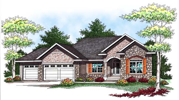 Traditional House Plan 73442 Elevation