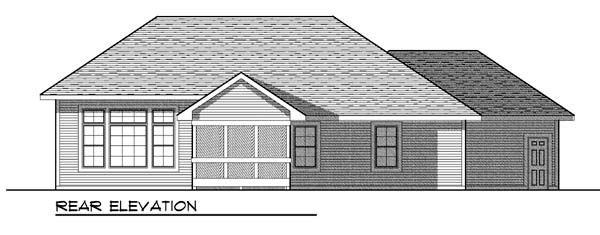 Traditional House Plan 73442 Rear Elevation