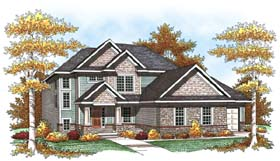 House Plan 73444 | Traditional Style House Plan with 2074 Sq Ft, 3 Bed, 3 Bath, 3 Car Garage Elevation