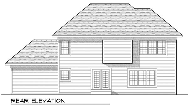 Traditional House Plan 73444 Rear Elevation