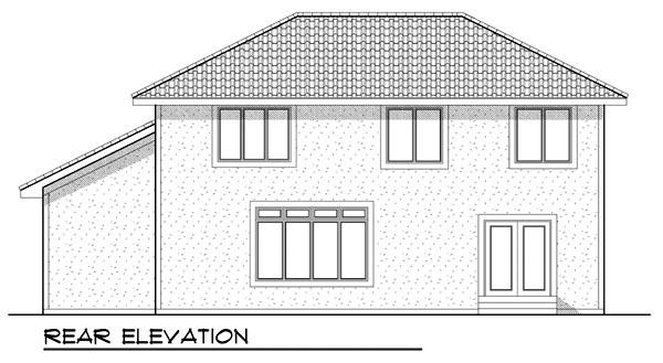 Mediterranean House Plan 73445 Rear Elevation