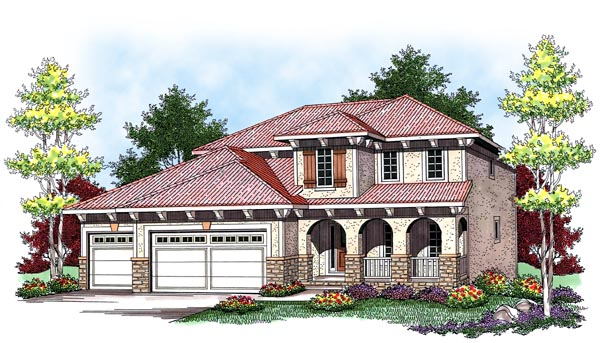 Mediterranean House Plan 73447 Elevation
