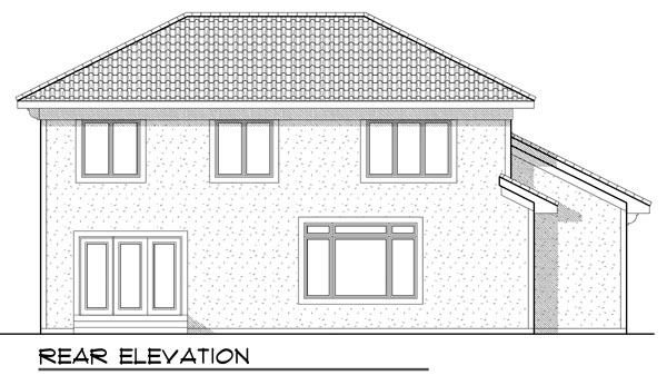 Mediterranean House Plan 73447 Rear Elevation