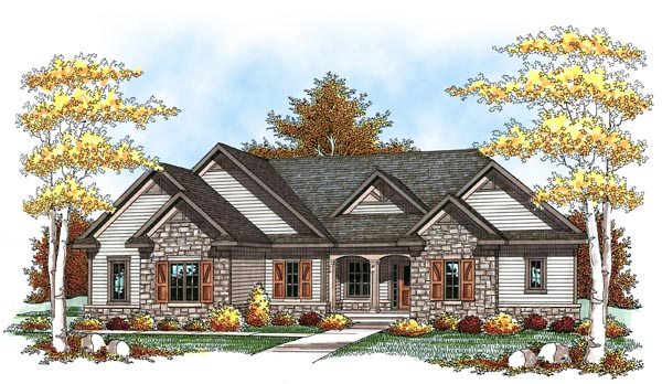 Traditional Tudor House Plan 73448 Elevation