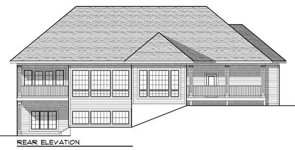 Traditional Tudor House Plan 73448 Rear Elevation