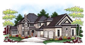 European Traditional House Plan 73449 Elevation