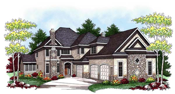 European Traditional House Plan 73449 Elevation