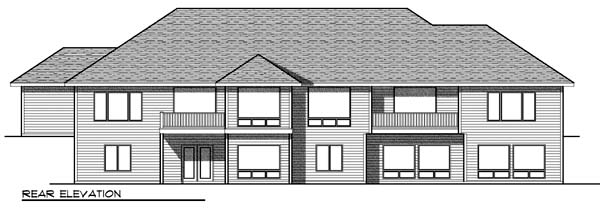 Traditional Multi-Family Plan 73454 Rear Elevation