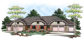 Traditional Multi-Family Plan 73455 with 6 Beds, 6 Baths, 6 Car Garage Elevation