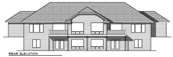 Traditional Multi-Family Plan 73455 Rear Elevation