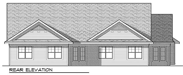 Traditional Multi-Family Plan 73456 Rear Elevation