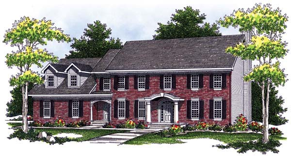 Colonial House Plan 73458 Elevation