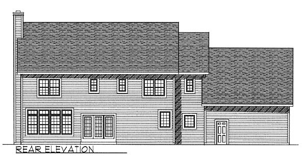 Colonial House Plan 73458 Rear Elevation