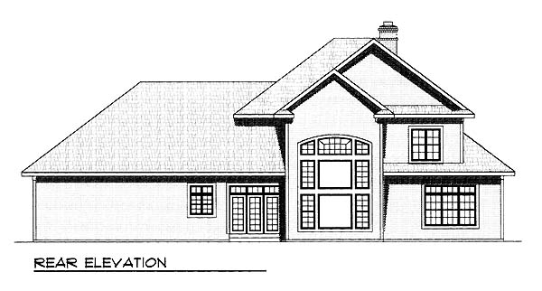 Traditional House Plan 73459 Rear Elevation