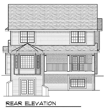 Country House Plan 73460 Rear Elevation