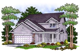 Country House Plan 73461 with 3 Beds, 3 Baths, 2 Car Garage Elevation