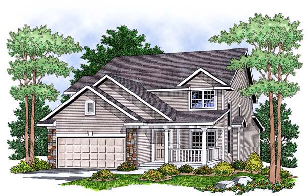 Country House Plan 73462 Elevation