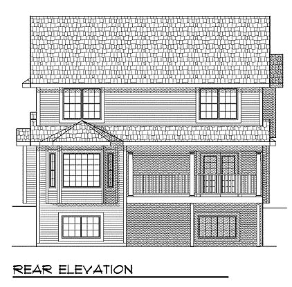 Country House Plan 73462 Rear Elevation