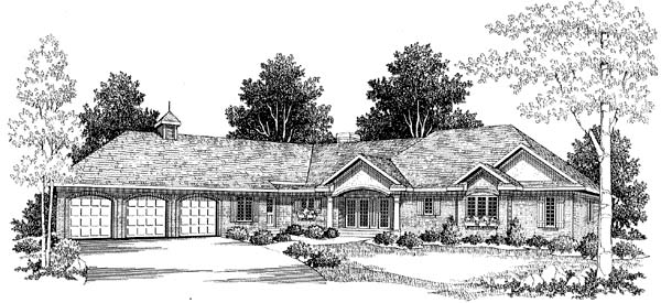 Colonial House Plan 73464 Elevation