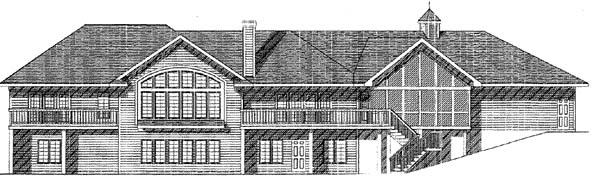 Colonial House Plan 73464 Rear Elevation