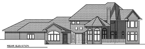 European House Plan 73465 Rear Elevation