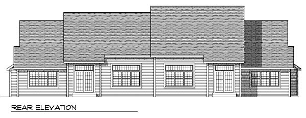 Traditional Multi-Family Plan 73466 Rear Elevation