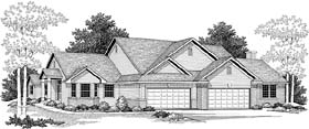 Traditional Multi-Family Plan 73468 Elevation