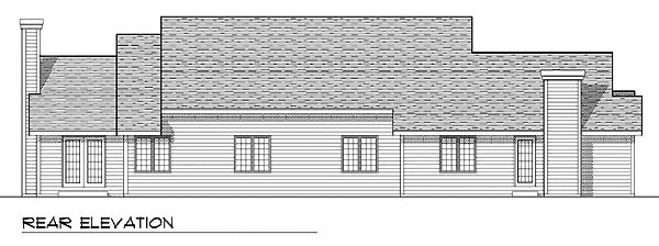 Traditional Multi-Family Plan 73468 Rear Elevation
