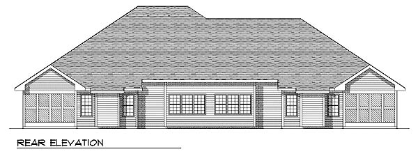 Traditional Multi-Family Plan 73470 Rear Elevation