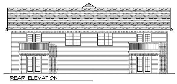 Traditional Multi-Family Plan 73471 Rear Elevation