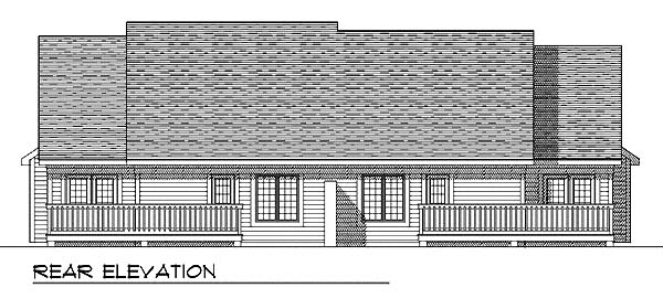 Traditional Multi-Family Plan 73474 Rear Elevation