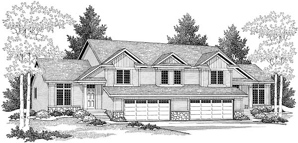 Multi family plan 73475 at for Multi family modular homes prices