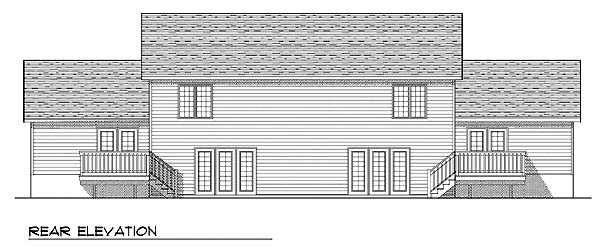 Traditional Multi-Family Plan 73475 Rear Elevation