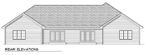 Traditional Multi-Family Plan 73476 Rear Elevation