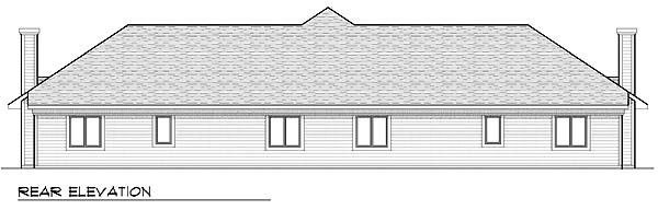 Traditional Multi-Family Plan 73477 Rear Elevation