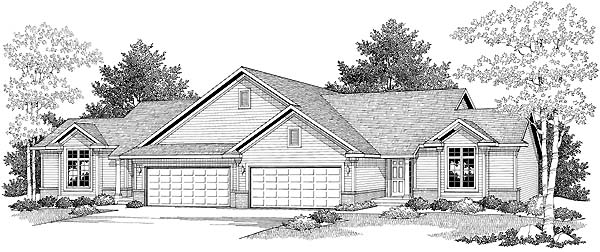 Ranch Multi-Family Plan 73479 Elevation