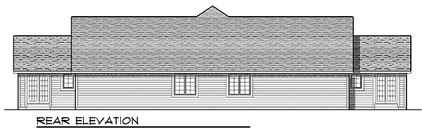 Ranch Multi-Family Plan 73479 Rear Elevation