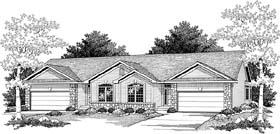 Ranch Multi-Family Plan 73485 Elevation