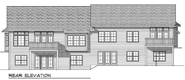 Ranch Multi-Family Plan 73488 Rear Elevation