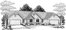 Ranch Multi-Family Plan 73490 Elevation