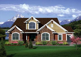 House Plan 73494 | Traditional Style Plan with 2493 Sq Ft, 4 Bedrooms, 2 Bathrooms, 3 Car Garage Elevation