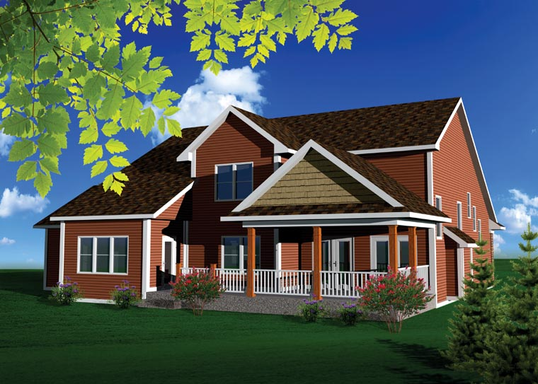Traditional House Plan 73494 Rear Elevation