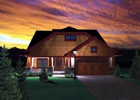 Ranch , Craftsman House Plan 73495 with 3 Beds, 3 Baths, 2 Car Garage Elevation