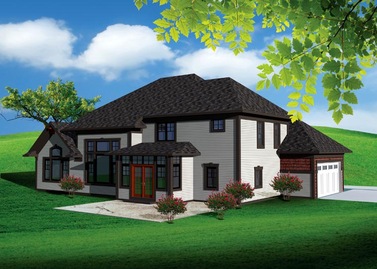 Traditional House Plan 73497 Rear Elevation
