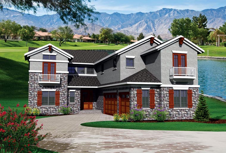 House Plan 73498 Elevation